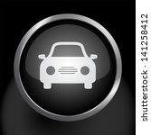 simple car icon on dark glass... | Shutterstock .eps vector #141258412