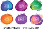 set of abstract modern graphic...   Shutterstock .eps vector #1412609585