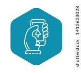 smartphone upload icon. outline ... | Shutterstock .eps vector #1412623028