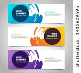 abstract vector banners.modern... | Shutterstock .eps vector #1412629595