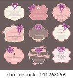 set of vintage labels with...   Shutterstock .eps vector #141263596