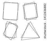 geometric polygonal frames  ... | Shutterstock .eps vector #1412636882
