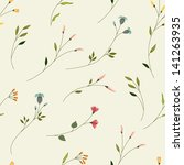 seamless floral background with ...   Shutterstock .eps vector #141263935