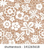 Lace White Seamless Pattern...