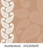 lace white seamless pattern... | Shutterstock .eps vector #141265645