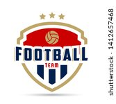 soccer logo or football club... | Shutterstock .eps vector #1412657468