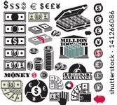 Money Icon Set. Dollar Bill....