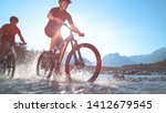 lens flare low angle  water... | Shutterstock . vector #1412679545