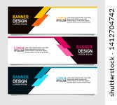 banner design with three color...   Shutterstock .eps vector #1412704742