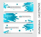abstract banner design with... | Shutterstock .eps vector #1412704745