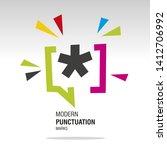 asterisk mark modern colorful... | Shutterstock .eps vector #1412706992