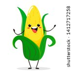 Corn. Cute Funny Corn In...