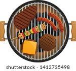 vector illustration of food ...   Shutterstock .eps vector #1412735498