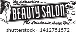beauty salon 5   retro ad art... | Shutterstock .eps vector #1412751572