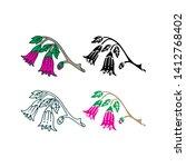 flower leaf illustration design ... | Shutterstock .eps vector #1412768402