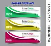 banner background.business... | Shutterstock .eps vector #1412778095