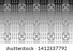 black and white relief convex... | Shutterstock . vector #1412837792