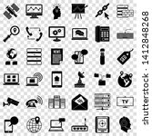 internet icons set. simple... | Shutterstock .eps vector #1412848268