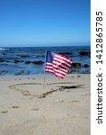 American Flag At The Beach....