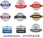 made in france collection of... | Shutterstock .eps vector #1412916428