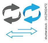 rotating  circular  cyclic... | Shutterstock .eps vector #1412932472