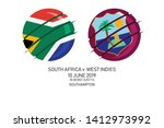 south africa vs west indies ... | Shutterstock .eps vector #1412973992