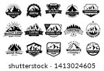 outdoors nature badges.... | Shutterstock .eps vector #1413024605