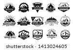 outdoors nature badges.... | Shutterstock .eps vector #1413024605