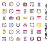 time icons. alarm clock ...
