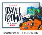 travel promo banner special... | Shutterstock .eps vector #1413042782