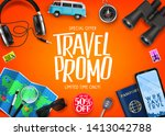 travel promo ads banner up to... | Shutterstock .eps vector #1413042788