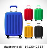 bag travel luggage plastic... | Shutterstock .eps vector #1413042815