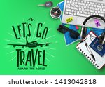 travel or tourism banner with... | Shutterstock .eps vector #1413042818