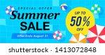 summer sale banner vector... | Shutterstock .eps vector #1413072848