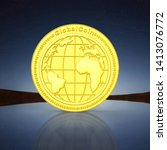 3d Rendered Gold Coin And...