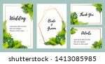 wedding invitation set with... | Shutterstock .eps vector #1413085985
