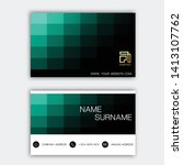 luxurious business card design. ... | Shutterstock .eps vector #1413107762