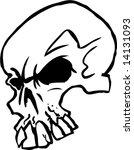 cartoon halloween skull | Shutterstock .eps vector #14131093