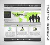 elegant clean website template  ... | Shutterstock .eps vector #141312418