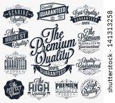 set of vintage premium quality... | Shutterstock .eps vector #141313258