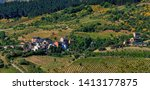 spring panoramic view of otero  ... | Shutterstock . vector #1413177875