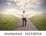 the right destination of a...   Shutterstock . vector #141318316