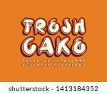 vector banner fresh cake with... | Shutterstock .eps vector #1413184352