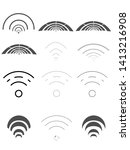 set of different internet icons ... | Shutterstock . vector #1413216908