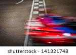 speeding car on a kart race | Shutterstock . vector #141321748