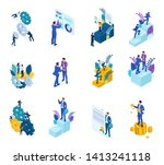 isometric concept of the... | Shutterstock .eps vector #1413241118