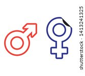 sex symbols of boy and girl | Shutterstock .eps vector #1413241325