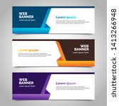 abstract design banner web... | Shutterstock .eps vector #1413266948