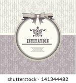 invitation card  wedding... | Shutterstock .eps vector #141344482
