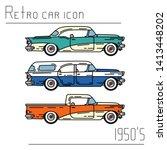 color vector icon set american...   Shutterstock .eps vector #1413448202